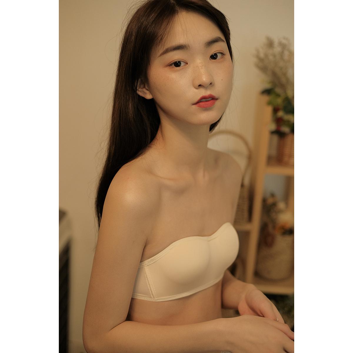 馨幫幫Bra 夏季學生抹胸內衣防走光可拆卸無肩帶防滑胸罩少女文胸