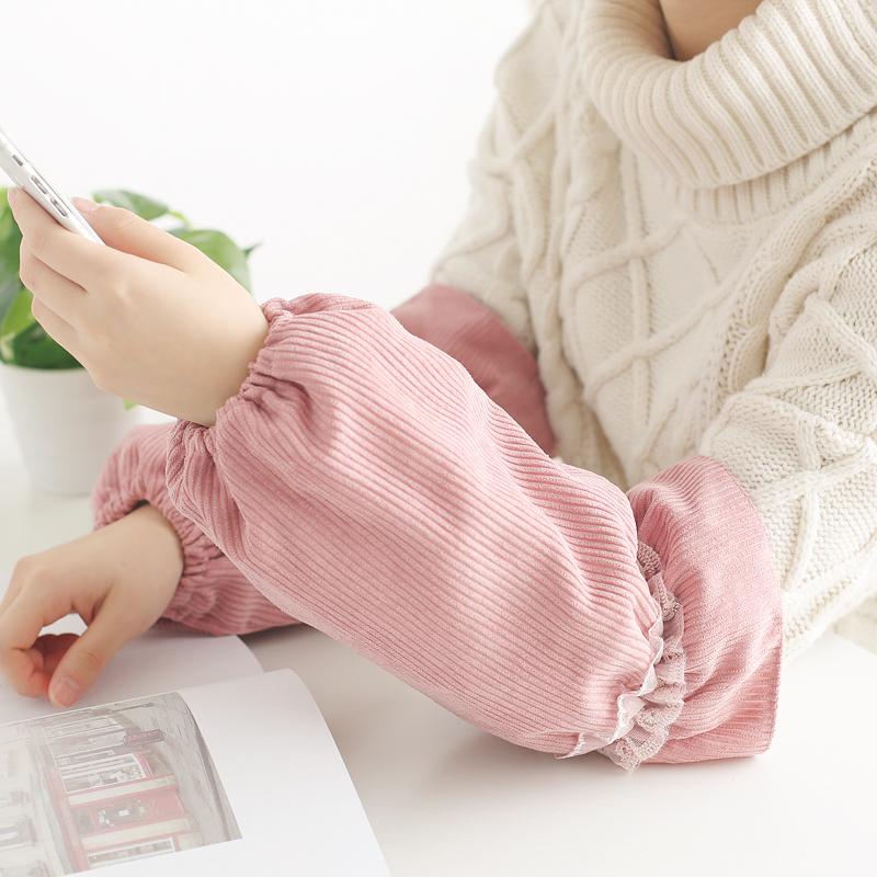 袖套防水套袖女手袖工作可爱护袖ins潮加长款防脏秋冬季韩版成人