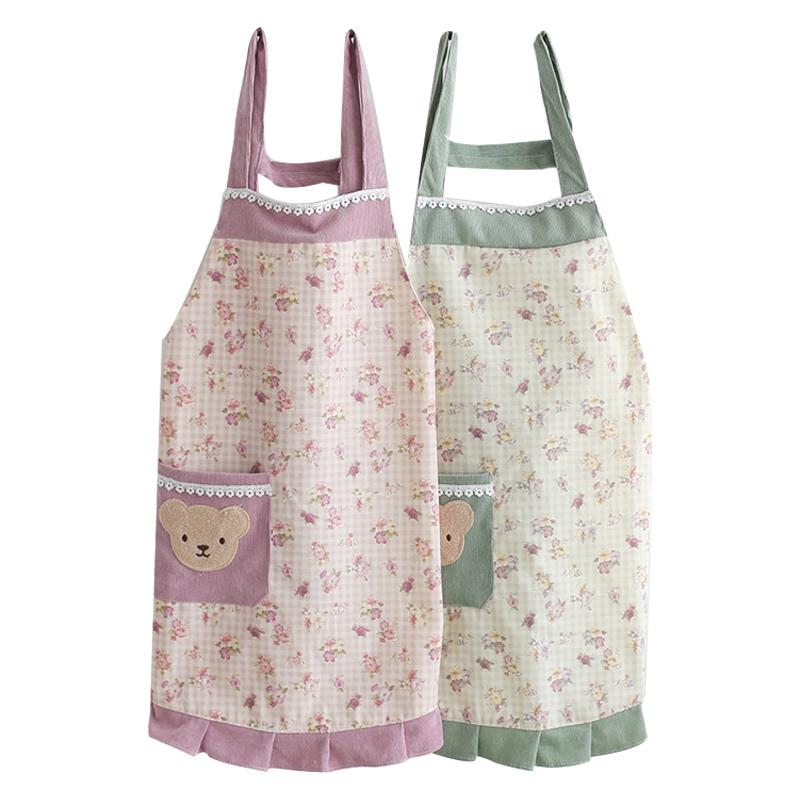 围裙夏季女士时尚高档厨房工作网红2021新款家用防水防油可爱做饭