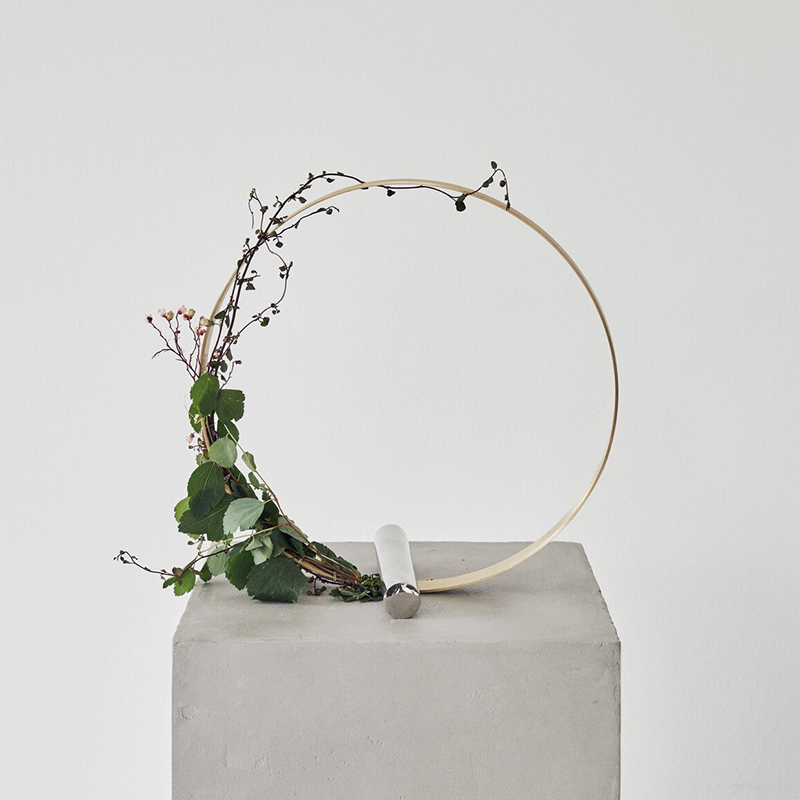 EBT北歐 丹麥Kristina Dam黃銅裝飾圈花環支架家居擺件ins樣板房