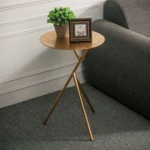 北欧金属小茶几创意铁艺客厅沙发边几角几话几休闲小圆桌小圆几