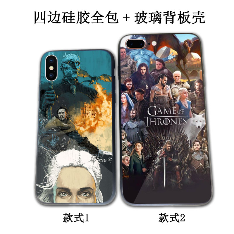 Power game song of ice and fire for xsmax case iPhone 8plus glass oppor15a79