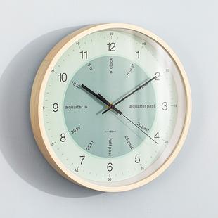 Crystal Nord英文时间描述学习挂钟数字简约认表时钟儿童房钟表