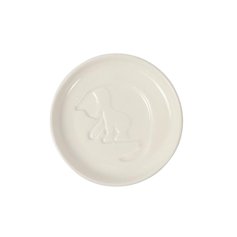 日本订单尾货猫咪 柴犬 味碟酱油碟小菜碟熊猫碟醋碟陶瓷凹凸小碟