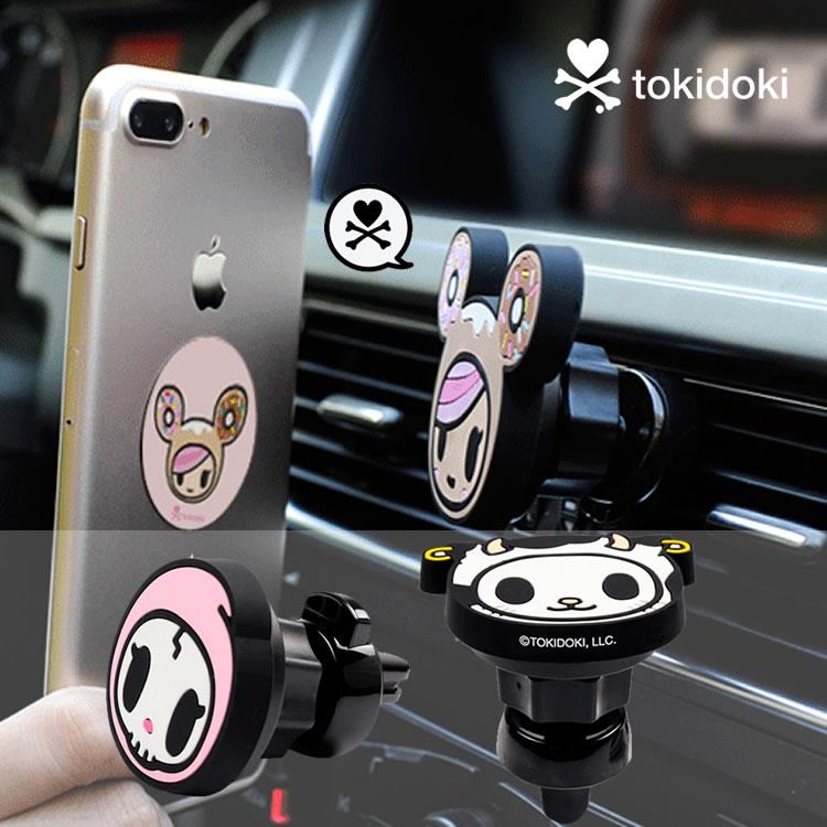 淘奇多奇TOKIDOKI苹果iPhone汽车车载手机支架空调风口磁性卡扣式