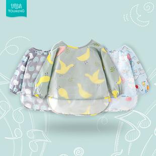 全身防水婴儿长袖 男女小孩喂饭围兜 饭兜 男女儿童宝宝吃饭罩衣