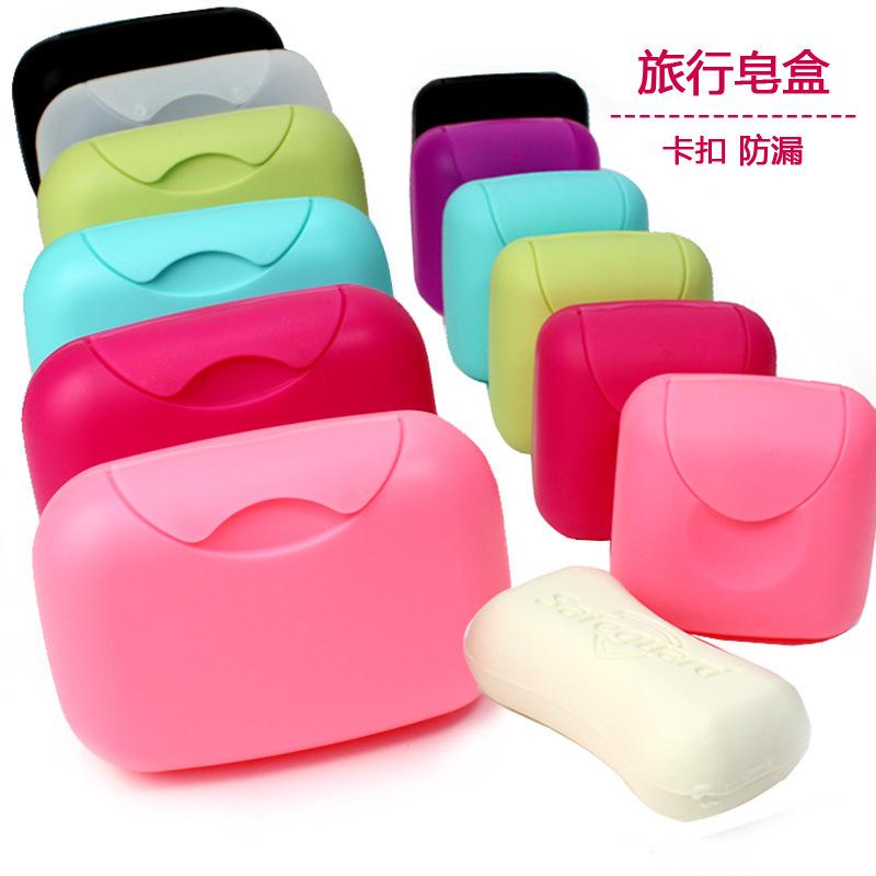 时尚创意塑料锁扣手工旅行肥皂盒迷你便携带盖密封香皂盒旅行出差