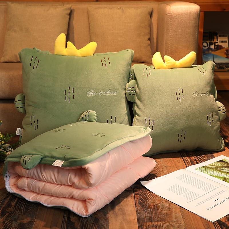 加厚抱枕被子两用车用车载办公室靠垫沙发汽车午睡枕头夏凉空调被