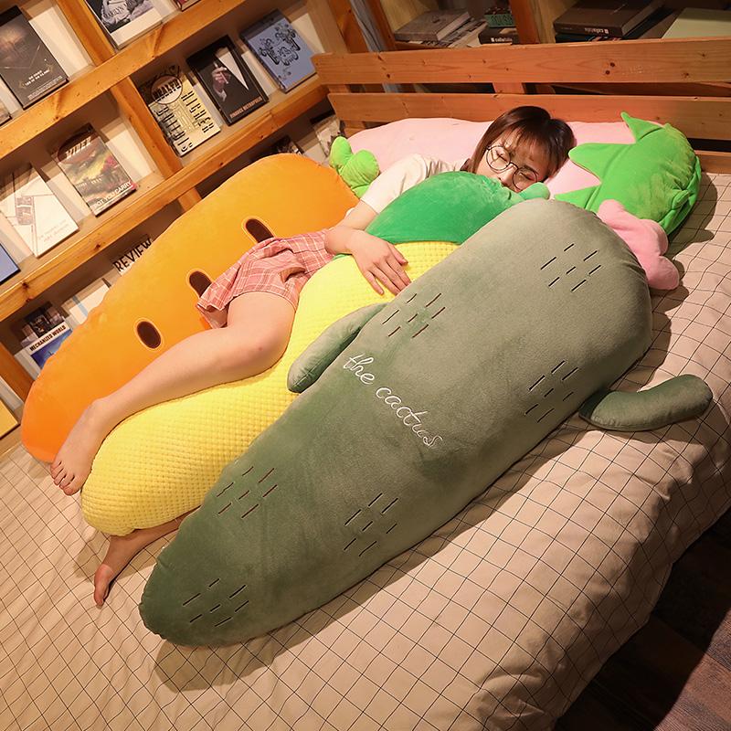 水果夹腿长条枕睡觉靠枕床头抱枕热销2208件假一赔三