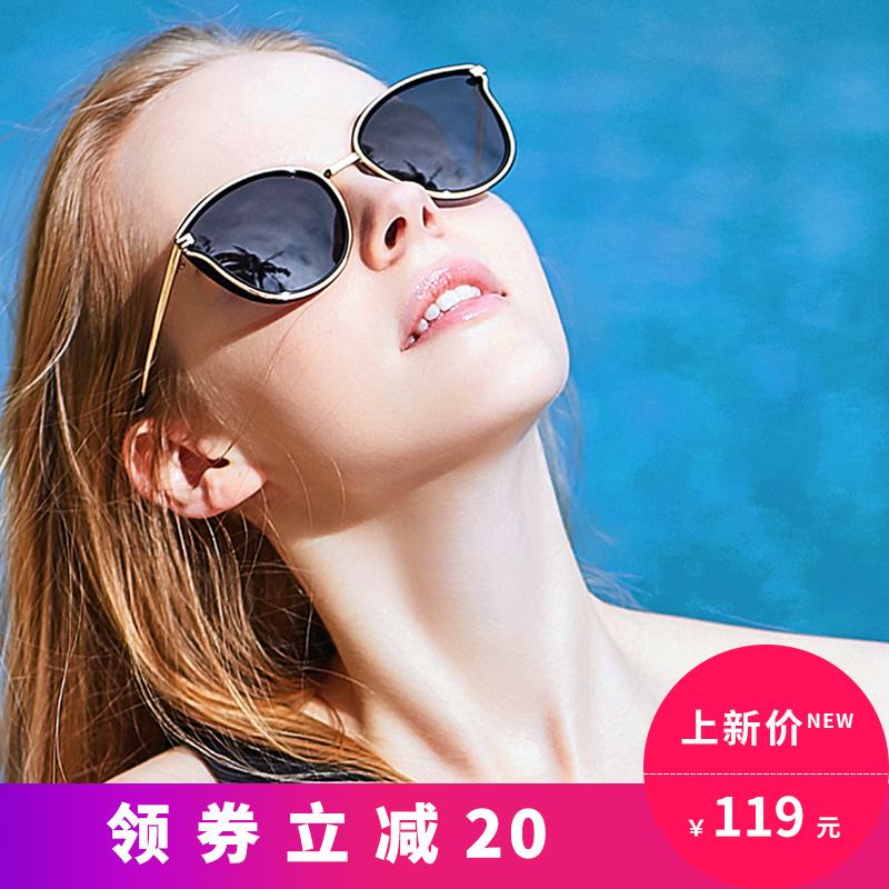 蓝其眼镜女太阳镜女墨镜女潮圆脸个性偏光可配近视眼镜2018新款