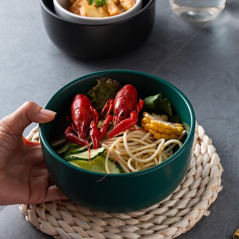 12-02新券北欧创意陶瓷哑光家用法海钵沙拉碗
