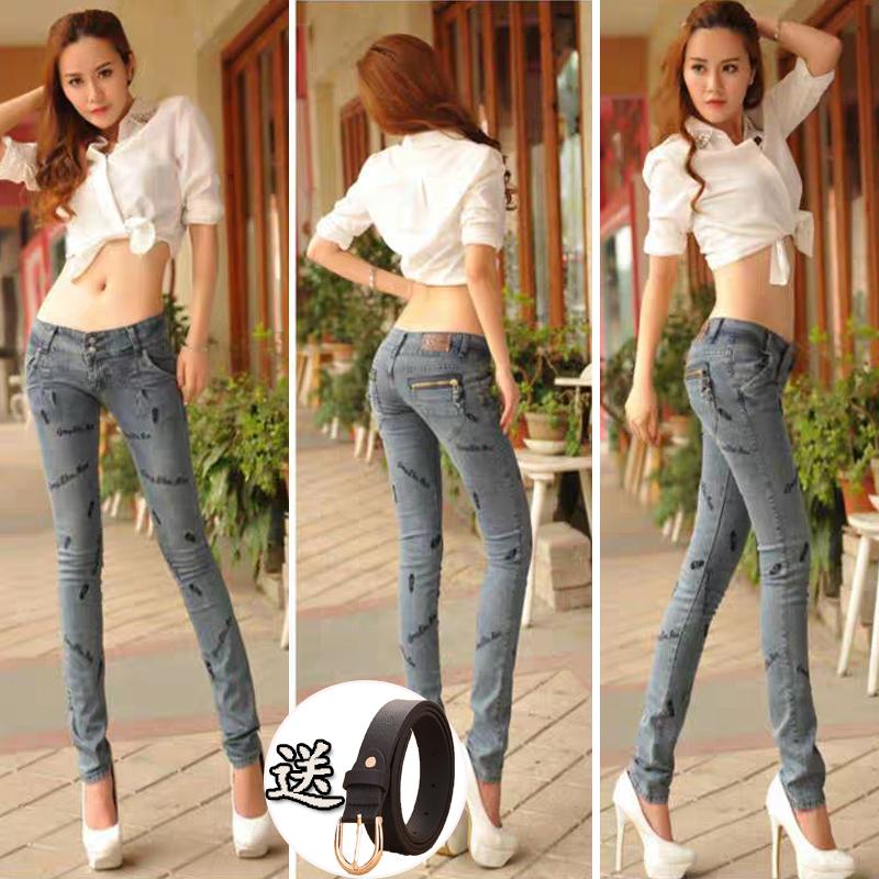Ultra low waist jeans womens Korean autumn and winter 2020 new fashion slim sexy tight legged pencil pants