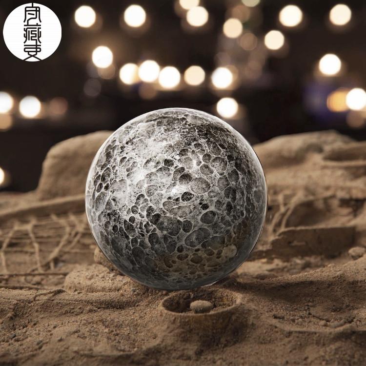 守藏|顾得庭堂 琉璃月球灯 桌面摆件 顺丰包邮 夜光灯 小夜灯