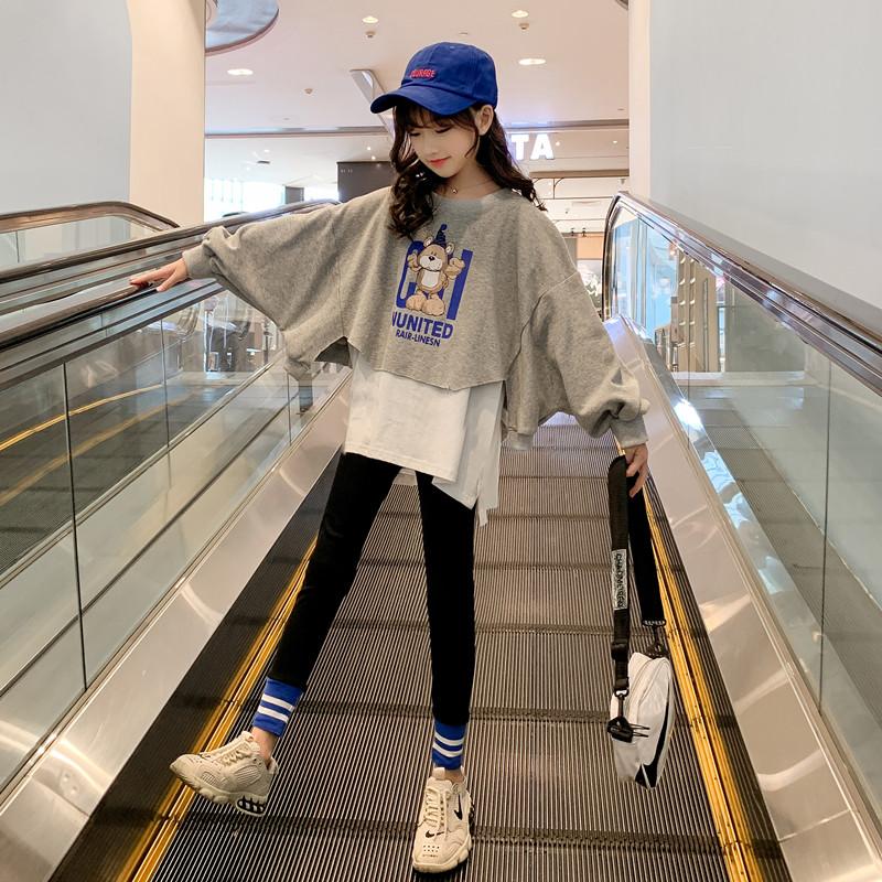 女童秋装套装2020新款洋气韩版网红童装衣服中大童运动时髦两件套