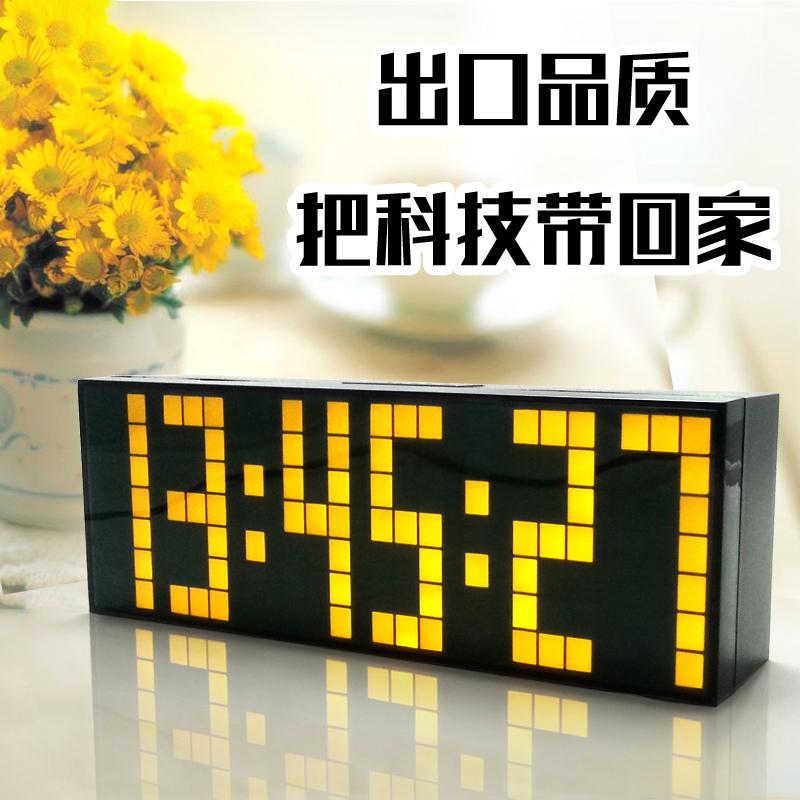 限9000张券led数字静音夜光电子闹钟创意学生用床头男女多功能计时器提醒器