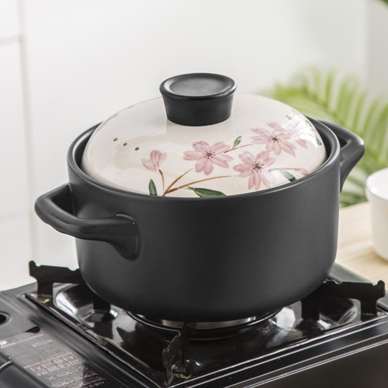 多美然 日式樱花煲仔饭砂锅煲汤家用炖锅煤气小号陶瓷锅燃气沙锅