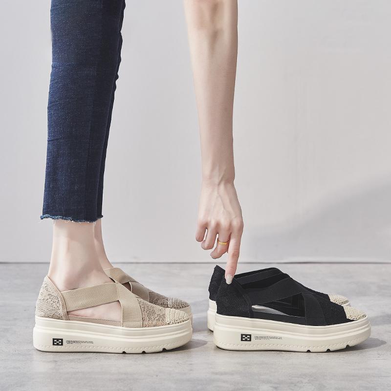 包头凉鞋女2019夏季新款仙女风ins潮网红厚底增高单鞋渔夫鞋时尚