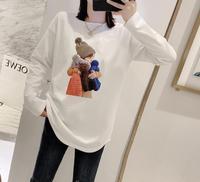 2020冬季新款女装圆领印花潮t恤衫