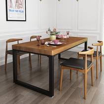 北欧简约现代实木餐桌长方形餐厅桌椅茶桌组合饭店咖啡厅桌子方桌
