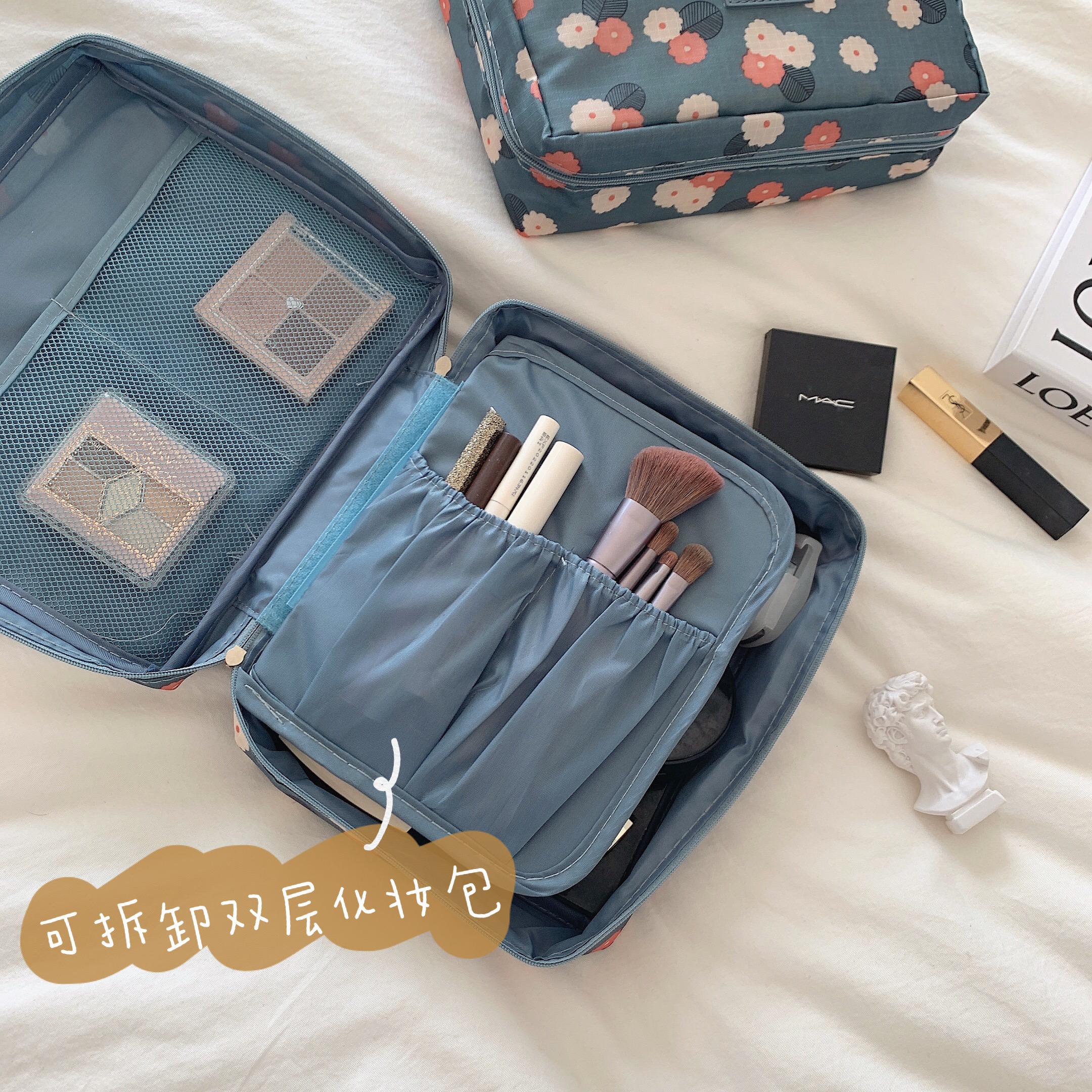 少女心放映室 ins防水大容量化妆包 旅行便携式手提洗漱包收纳袋图片