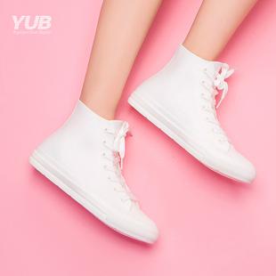 YUB雨鞋女士韩版防滑胶鞋水靴都市水鞋时尚款套鞋中短筒雨靴胶鞋