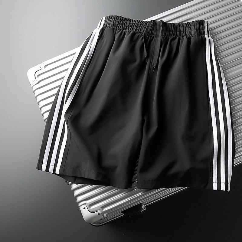 三条杠短裤男潮宽松休闲薄款跑步五分裤外穿夏季运动速干5分中裤3