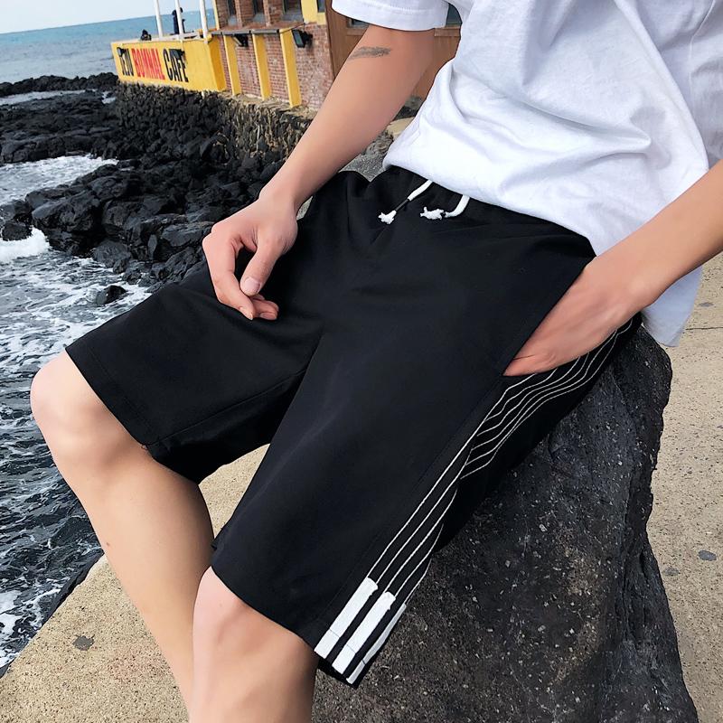 短裤男潮2020年夏季潮流五分裤纯棉休闲中裤沙滩外穿工装系带裤子