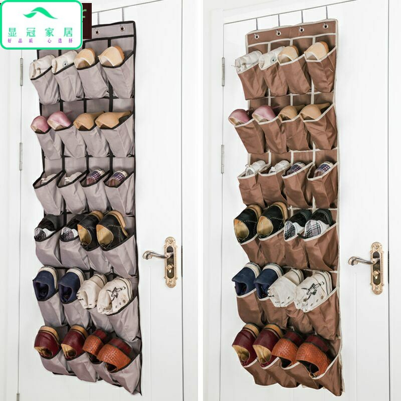 Storage slippers hanging on the wall shoe rack on the wall simple multi-purpose fabric toilet hanging wall hanging cute
