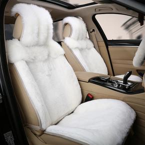 2017新款真狐狸毛坐垫 冬季羊毛汽车座垫皮毛一体皮草男女车坐垫