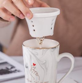 创意陶瓷茶漏茶叶过滤器个性茶滤家用滤茶器办公室用茶隔茶具配件图片