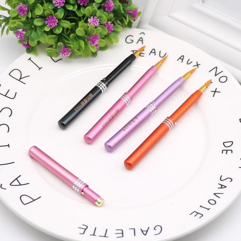 Lip pen lip brush telescopic portable lipstick brush Mini lipstick brush beauty brush with cover beauty kit mail