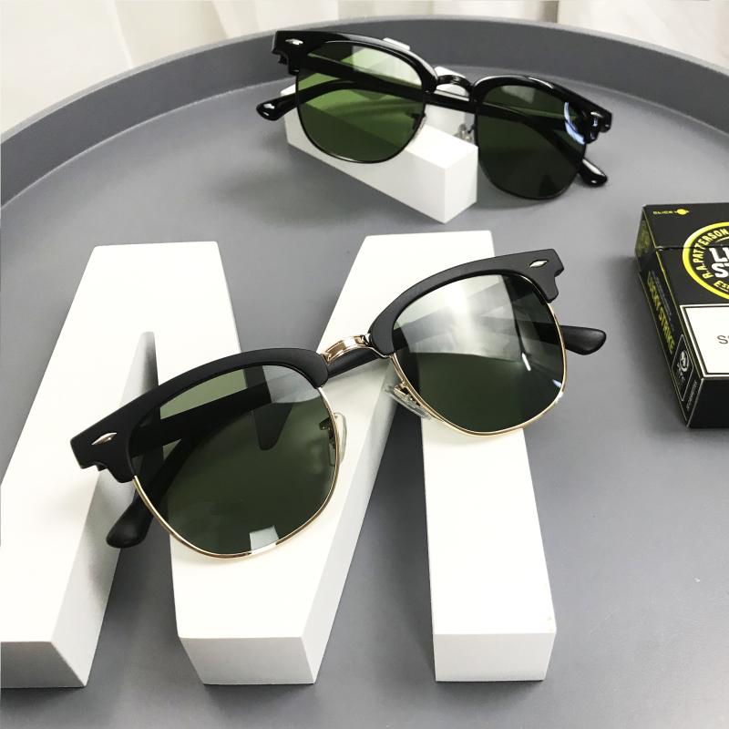 钢化玻璃镜片2020新款防紫外线墨镜蛤蟆款开车钓鱼男士太阳眼镜