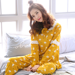 少女睡衣春秋款纯棉长袖卡通甜美可爱