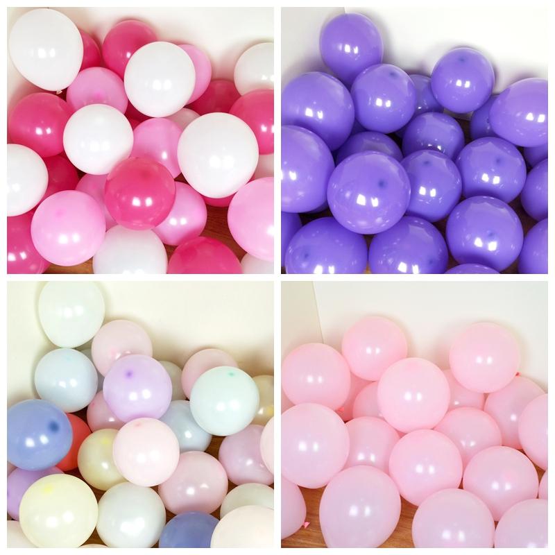 热销159件限时2件3折5寸圆形亚珠光马卡龙小气球生日派对婚礼现场造型装饰地爆球100个
