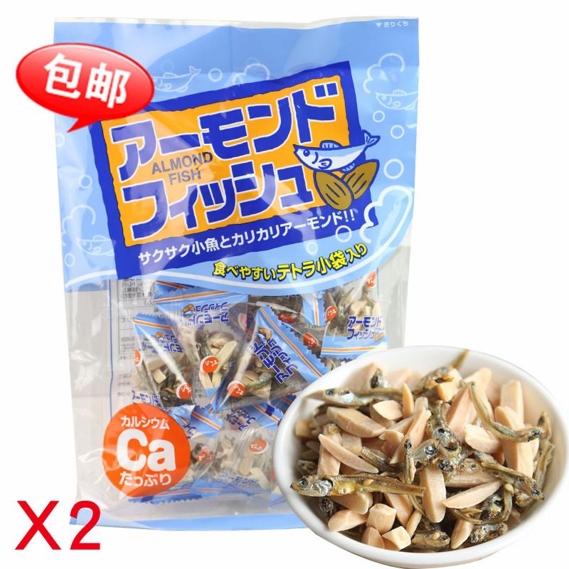 日本进口零食 天六什锦小吃 巴旦木仁小鱼干80g  杏仁味