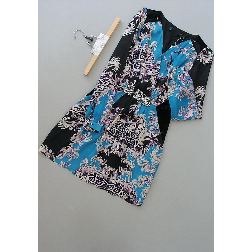 巴[Q18-406]专柜品牌正品真丝女裙子打底女装连衣裙0.31KG