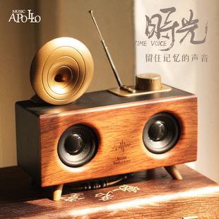 Music Apollo B6无线蓝牙音箱低音炮超大音量便携式户外收音机手机电脑插卡U盘3D环绕车载复古小音响价格