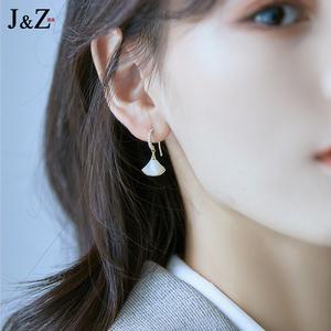 简执高级感大牌耳饰纯银小耳坠气质扇形耳环女2020年新款潮耳钉