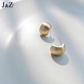 高级感金属豆豆耳钉女纯银针简约气质小巧耳环2021年新款潮耳饰
