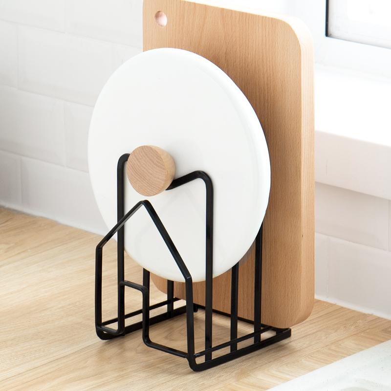 纳川创意厨房用品锅盖砧板架菜板置物架多层杂志书籍收纳架储物架