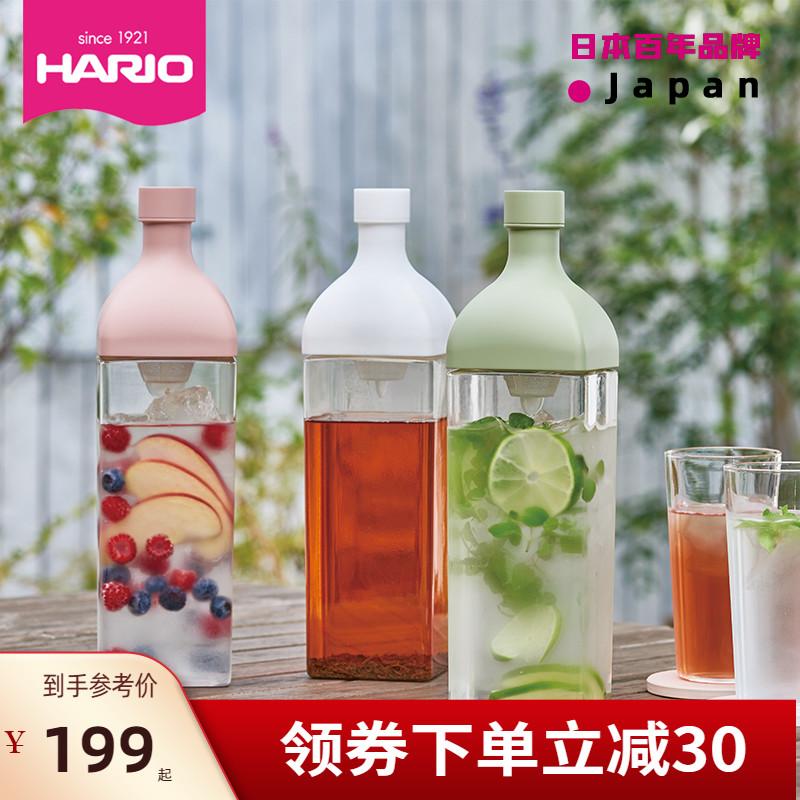 HARIO日本进口耐热树脂方形滤网大容量凉水壶冷泡冷萃果蔬茶壶KAB