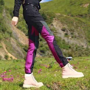 淘淘户外女士软壳裤冲锋裤徒步登山裤保暖裤防风裤抓绒裤小脚裤