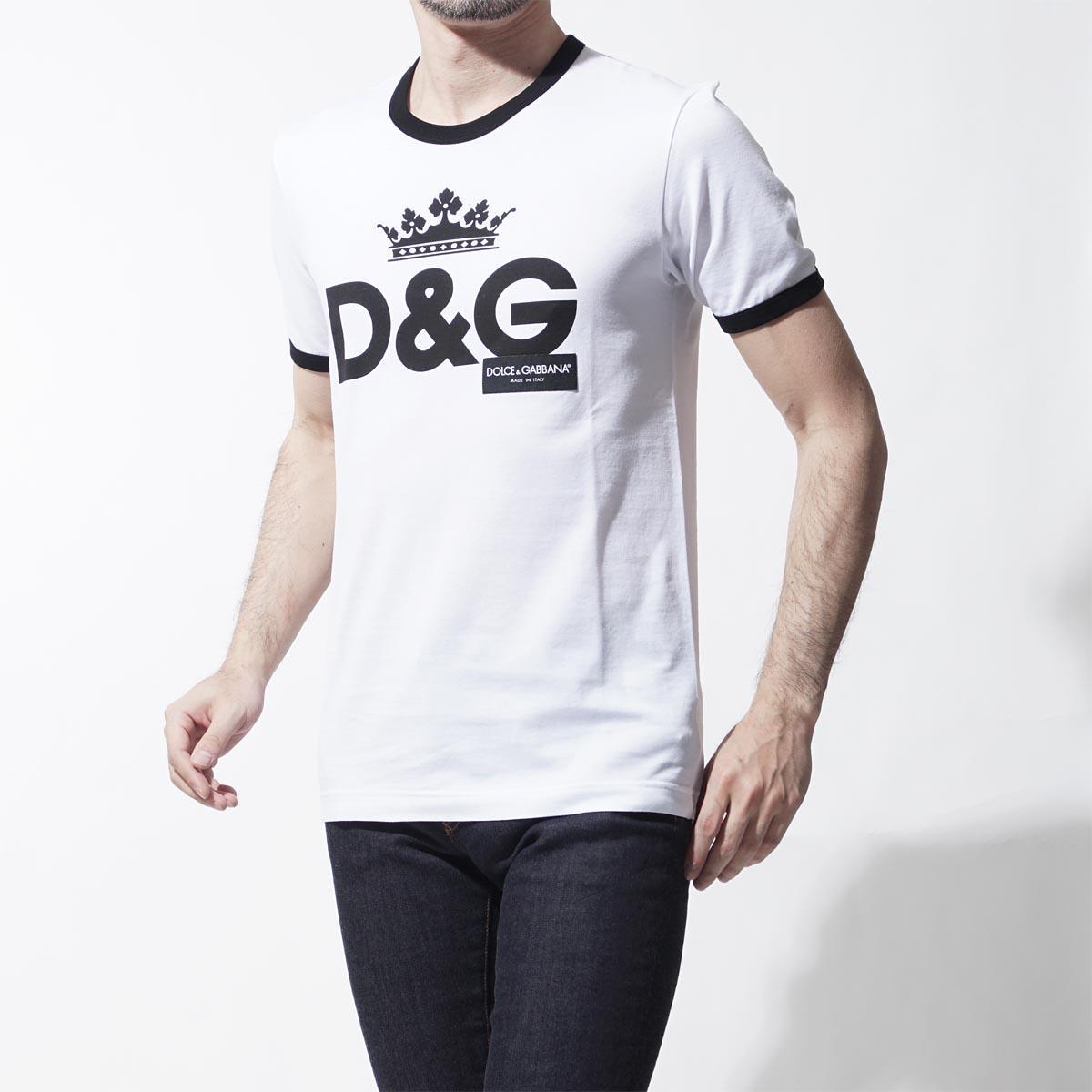日本代� D-G/杜嘉班�{ 2018春男士全棉�A�I短袖T恤衫