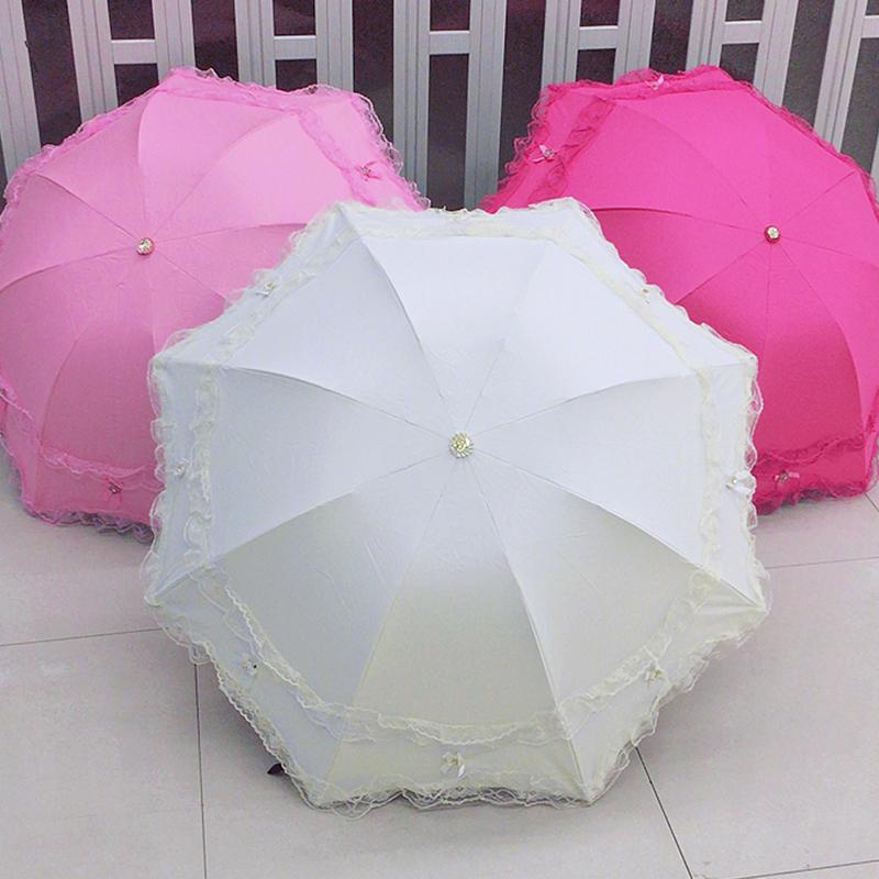 太阳伞女防晒防紫外线公主伞韩国创意蕾丝两用睛雨伞三折叠遮阳伞