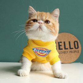 潮牌宠物猫咪衣服秋冬保暖英短加菲无毛猫卫衣防掉毛泰迪狗狗衣服图片