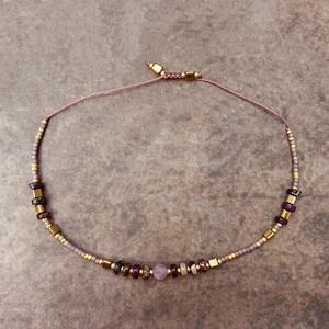 《紫水晶象征运气》VIKIKO 复古紫 细水晶手链女 闺蜜礼物混搭