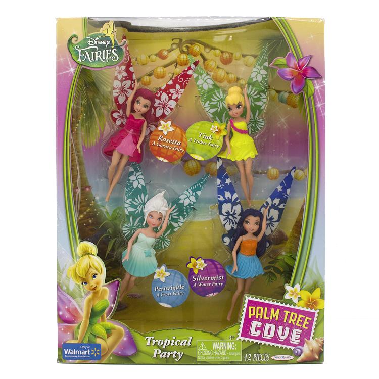 迪士尼精灵仙子tink小叮当娃娃TROPICAL PARTY热带聚会4个仙女装