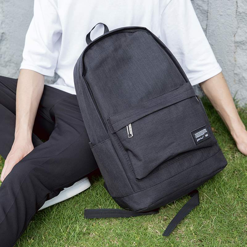 New large capacity mens backpack rechargeable Canvas Backpack college student schoolbag simple youth computer bag