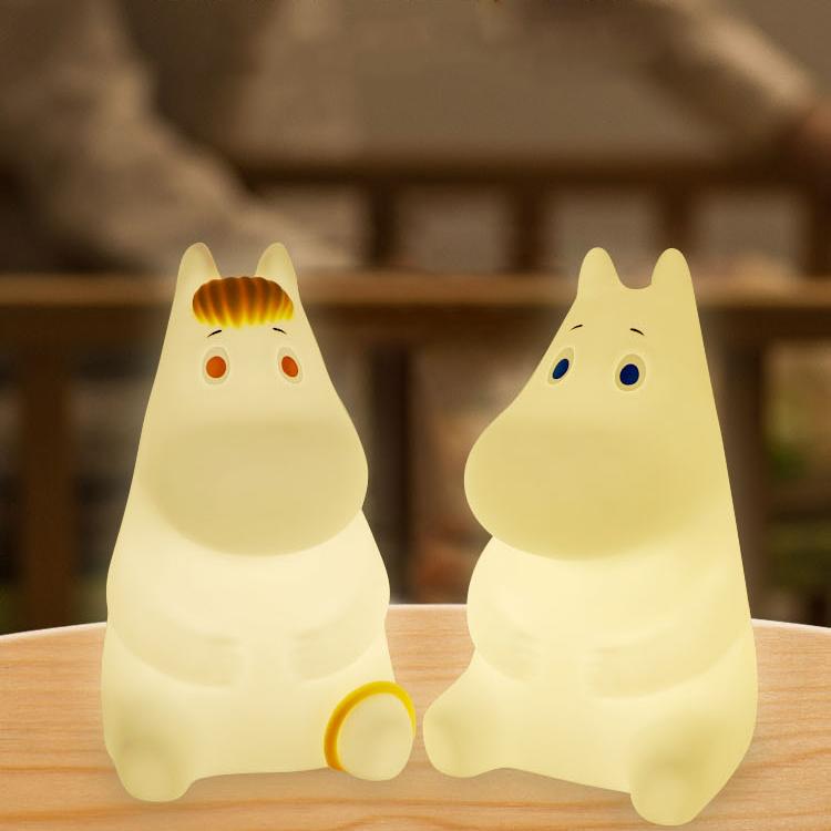 软硅胶拍拍灯充电灯床头遥控LED姆明歌妮小夜灯Moomin朴坊