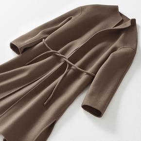 尘蜜2018中长款新款羊毛大衣女韩国宽松显瘦气质小个子双面呢